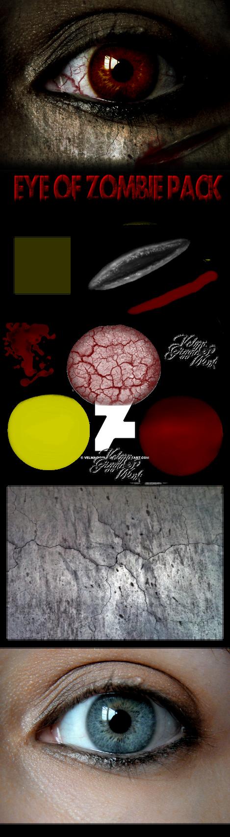 Eye of Zombie Pack and Tutorial by VelmaGiggleWink