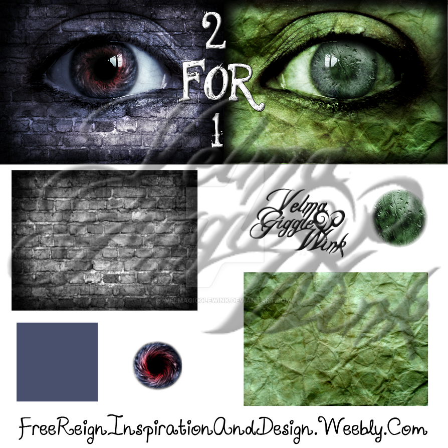 Texture and Iris 2 for 1 Tutorial and Pack Fun by VelmaGiggleWink