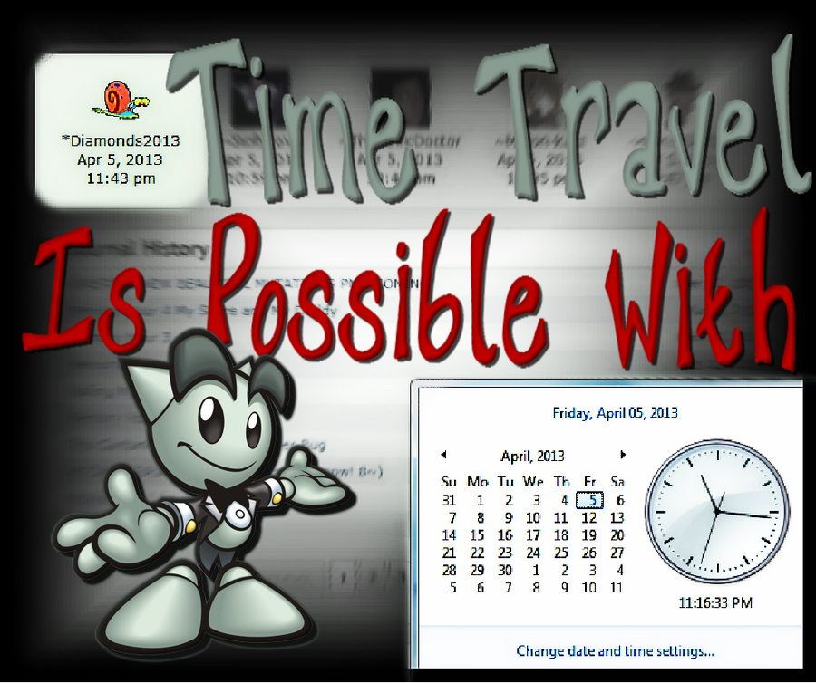 Time Travel Is Possible With Deviant Art! by VelmaGiggleWink