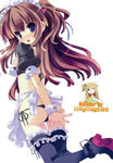 Anime Girl Maid Ecchi Render