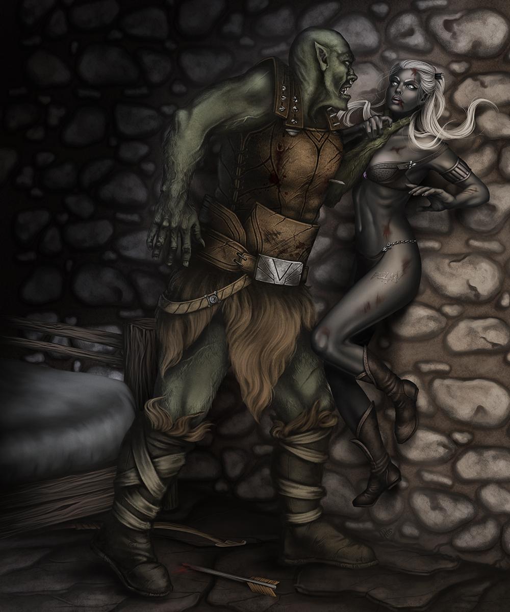 Orc master elf slave fucked clip