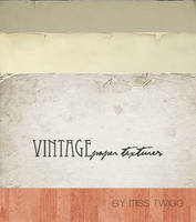 VINTAGE paper textures by MissTwigg