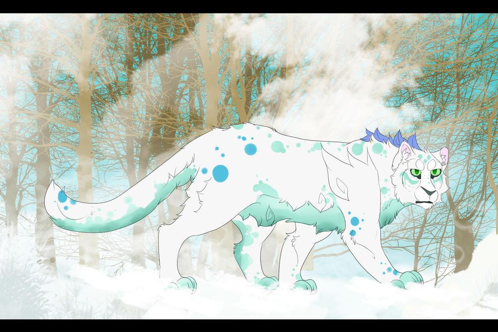 Redraw - Harqu The Snow Leopard by Uki-U