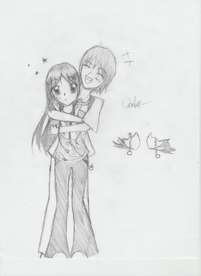 My Drawing boy hug girl by ririchiyoxmusic on DeviantArt