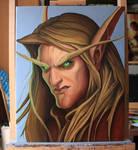Bloodelf Oilpainting World of Warcraft BC 40x50cm