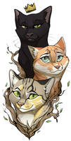 Commission Cat Tattoo by ChershireHatter