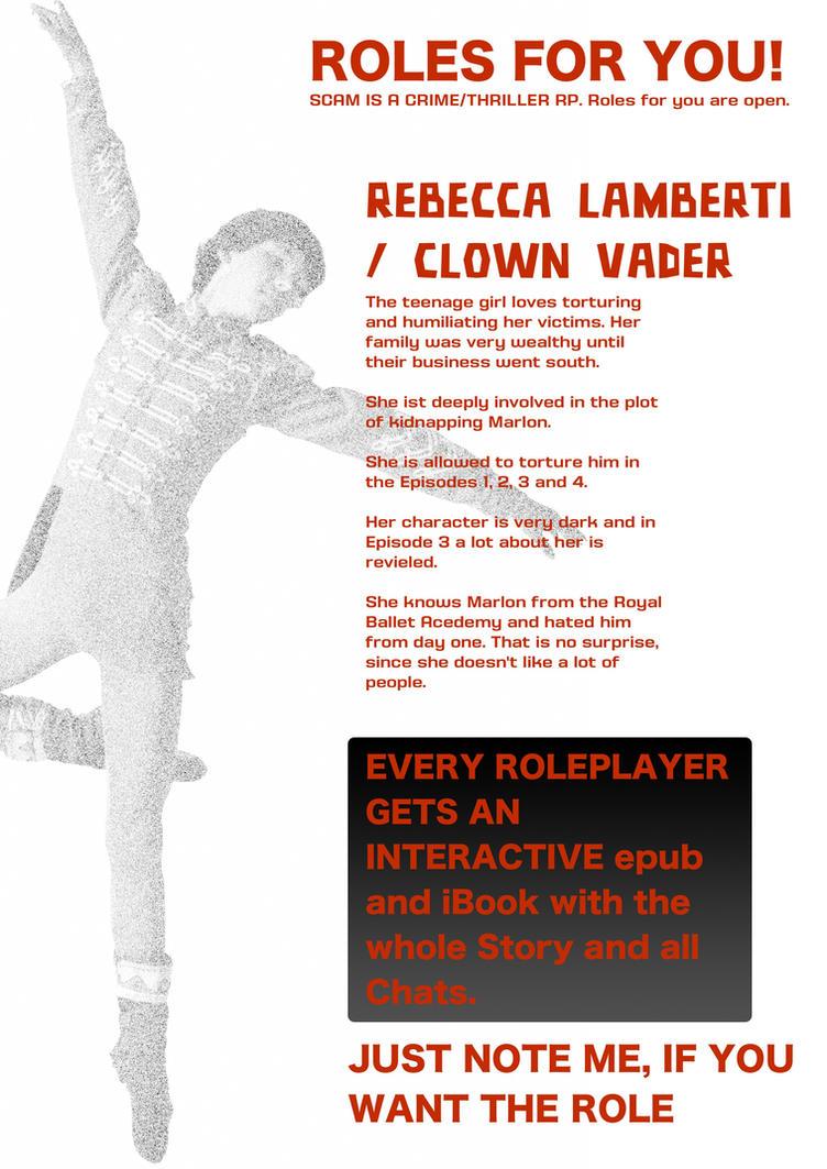 ROLE: REBACCA LAMBERTI / CLOWN VADER by helpless-marlon