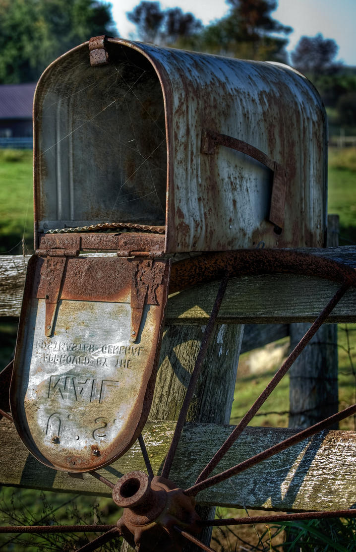 Hdr country mailbox by braxtonds on deviantart for What to do with old mailbox