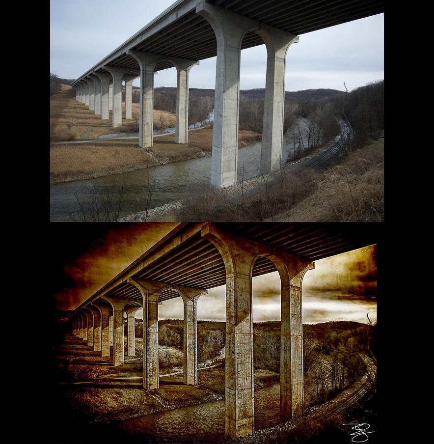 Interstate Bridge: Before/After by braxtonds
