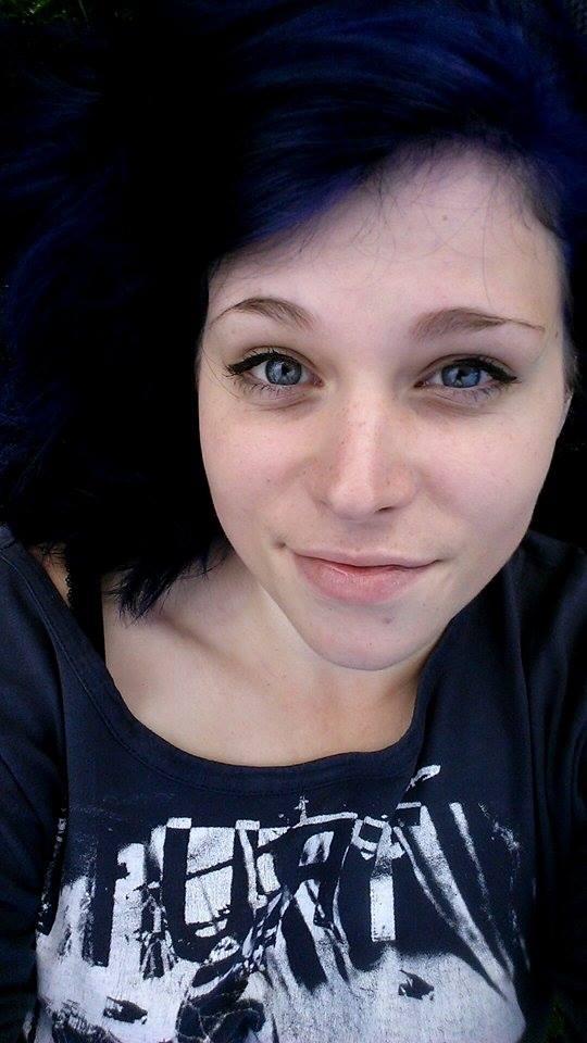 blue hair by somebodyaf