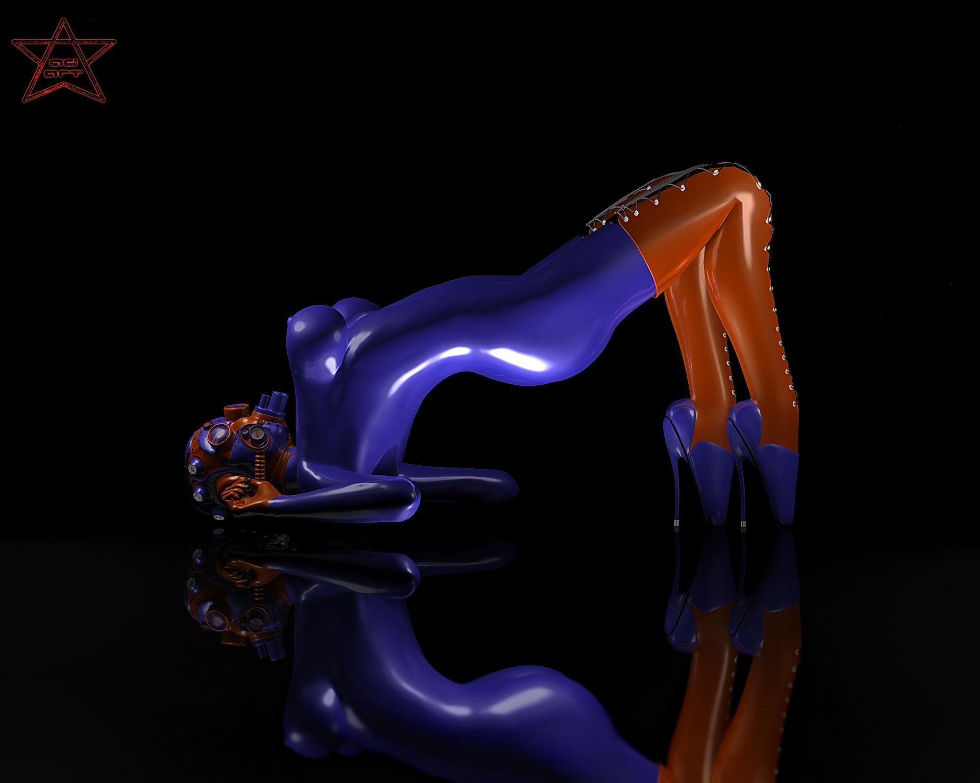 Indigo Girl in Heavy Rubber by AgniDog