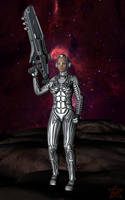 Hyper suit deep space silver by AgniDog