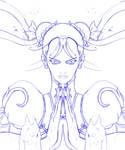 Chun Li sketch by tramposin