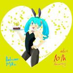 10th Anniversary Hatsune Miku by tramposin