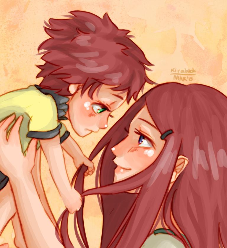 Naruto AU - Kushina and Arashi by Kirabook on DeviantArt