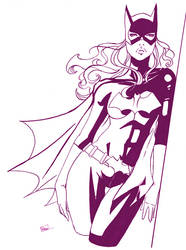 batgirl inked commission by Peng-Peng