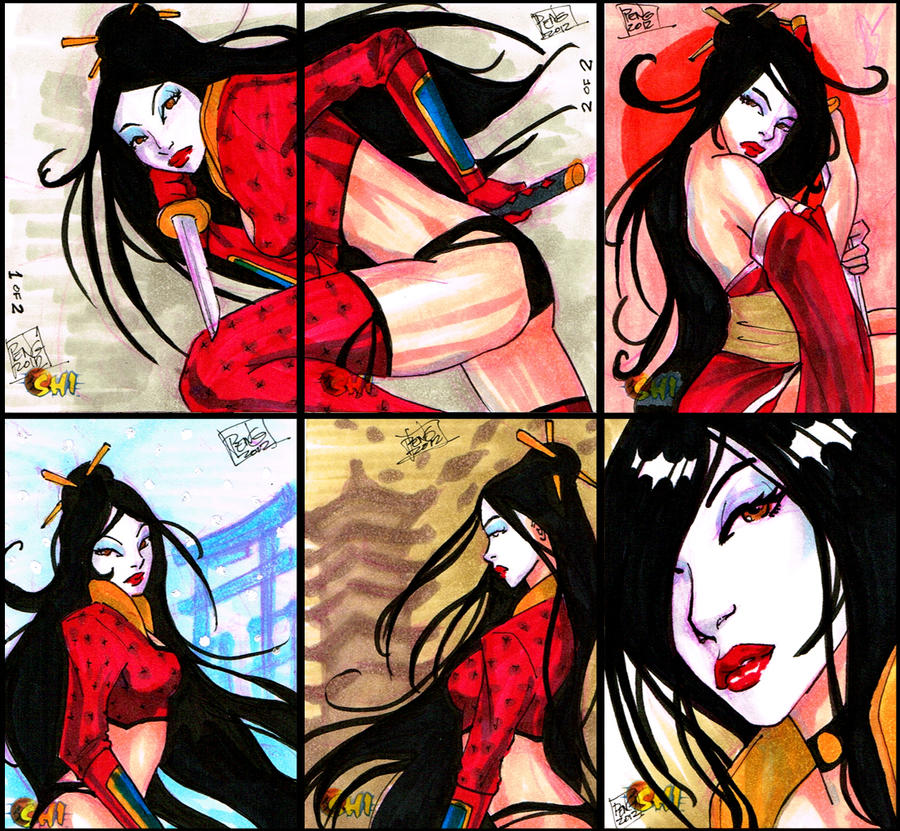 shi cards sample by Peng-Peng