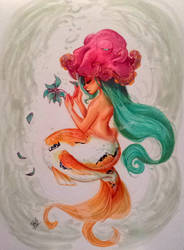 koi mermaid commission