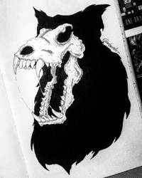 Wolf Skull in space by mberoli