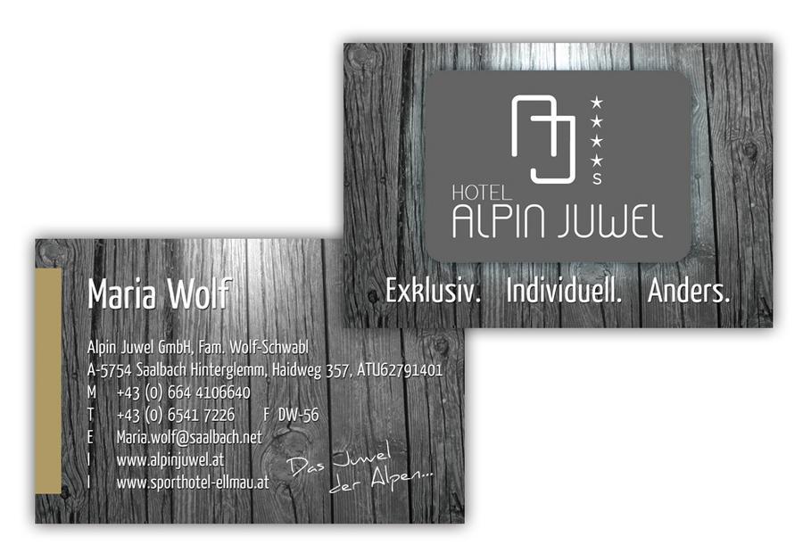 Hotel Alpin Juwel Visitenkarten By Pinzweb On Deviantart