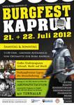 Burg Kaprun / Burgfest Plakat 2012