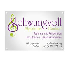 Stefanie Gautsch - Schwungvoll / Werbetafel by pinzweb