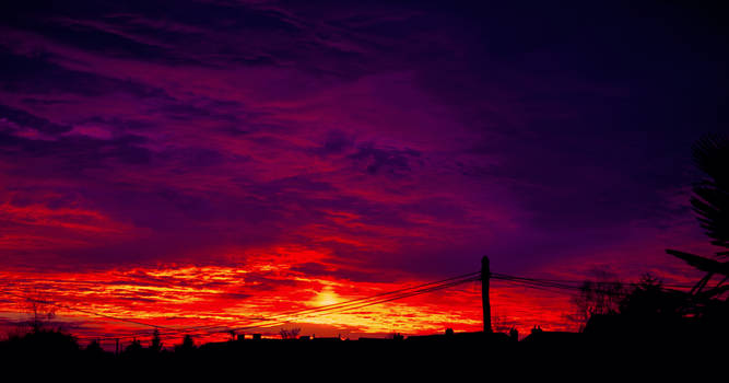 Hot winter sunset by Bijou44