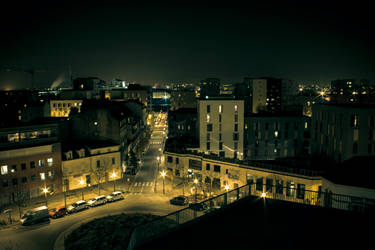 Nantes skyline in the night ! by Bijou44