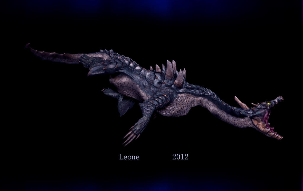 3d monster hunter dragon modeling rigt by leonehan by for Monster 3d model