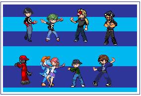 Sprites of SA friends. by Shadow-Dinosaur