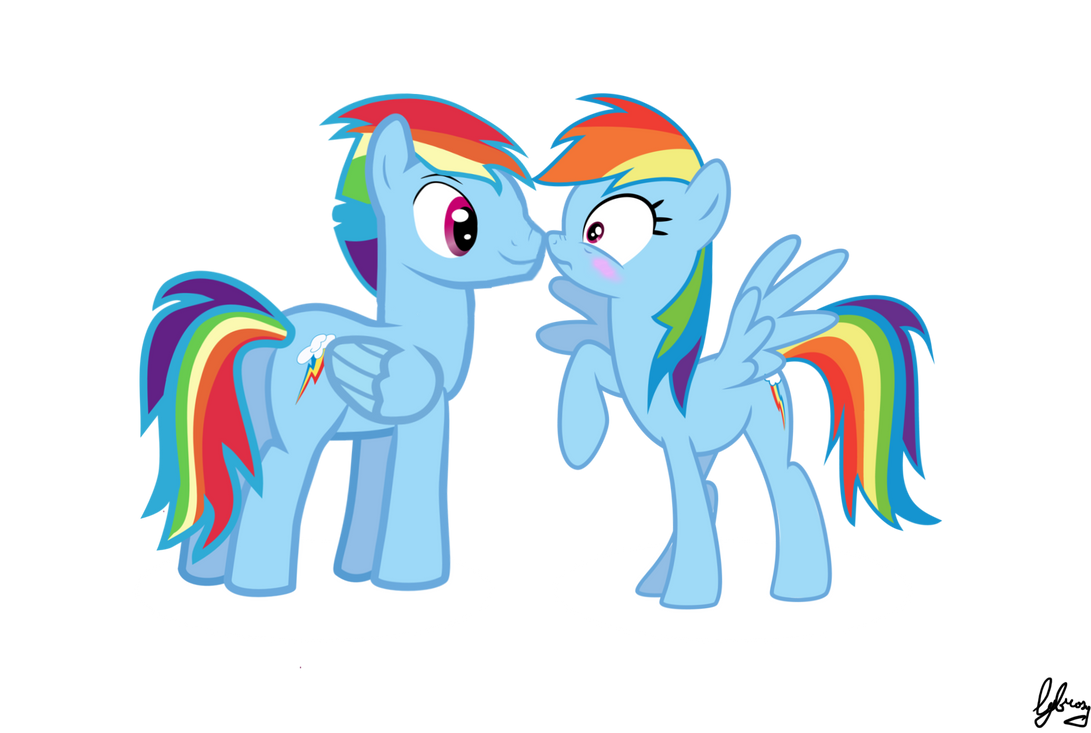 rainbow dash and blitz meet