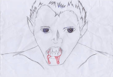 Scary Vampire by darkwolf10011