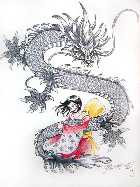 Dragon and the Geisha by Usagi-Rukia on DeviantArt