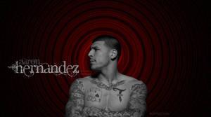Aaron Hernanez Black And Red Background