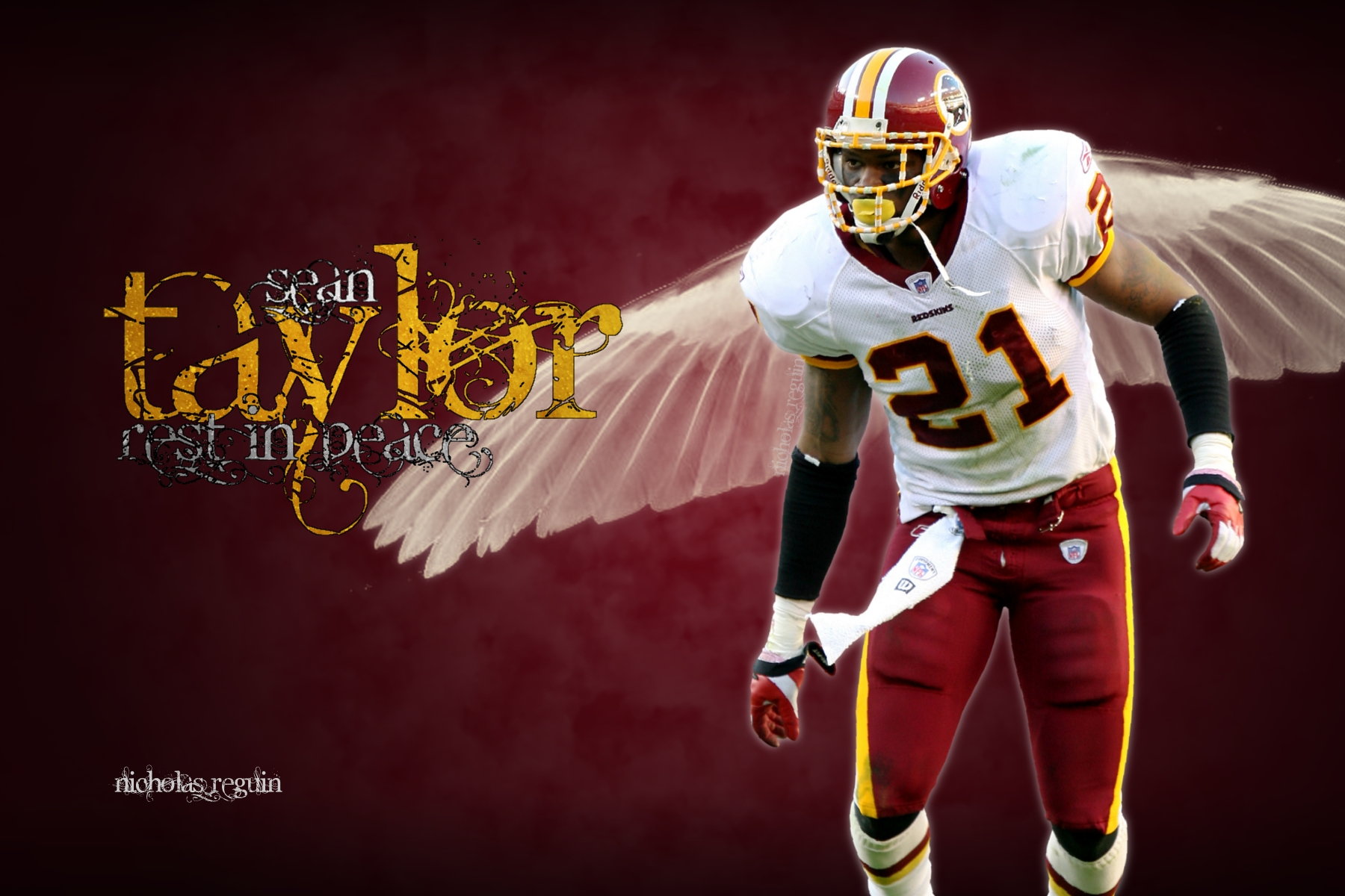 Rest In Peace Sean Taylor Washington Redskins by FBGNEP on DeviantArt