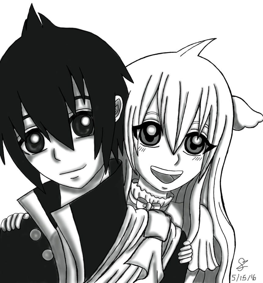 Zeref and Mavis by ichirukibiggestfan