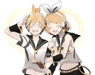 Rin Len 10th Anniversary by Risa1