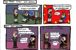 Sega vs. Nintendo, episode 1. by Old-Freddy