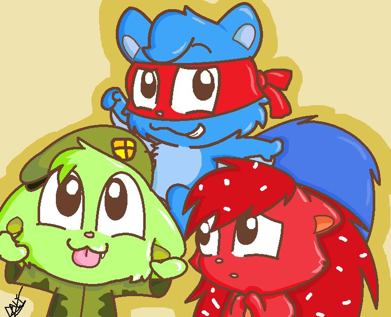 My 3 fav chibi HTF Characters 83 by makimi