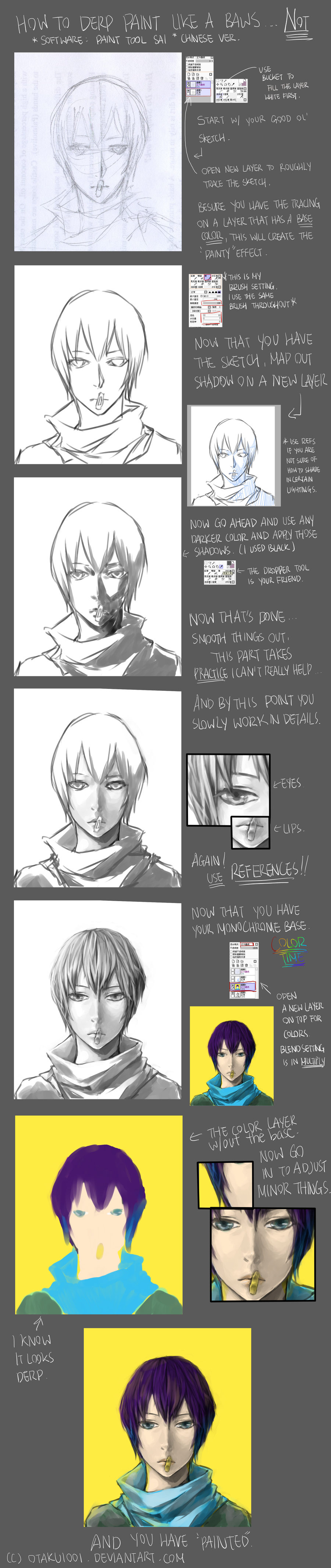 How to Fake Indirect Oil Paint on Paint Tool SAI by Otaku1001