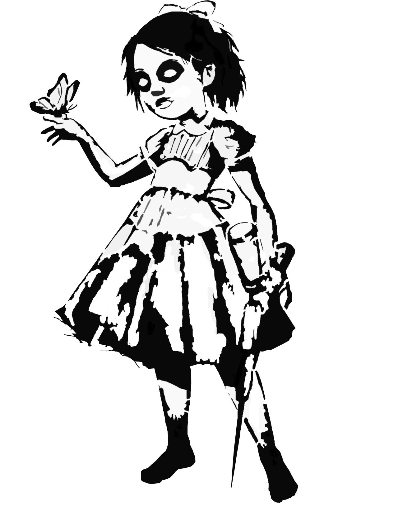 little sister stencil by tobuei on DeviantArt