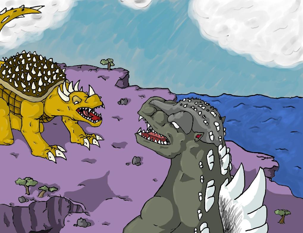 Dibujos Godzilla Raids Again 1955 Para Colorear: Godzilla Raids Again By Mecha-Anguirus On DeviantArt