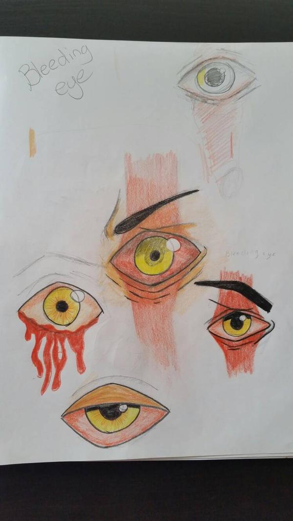 Character Design Sketches  (Bleeding Eye) by VagabondArtist1235