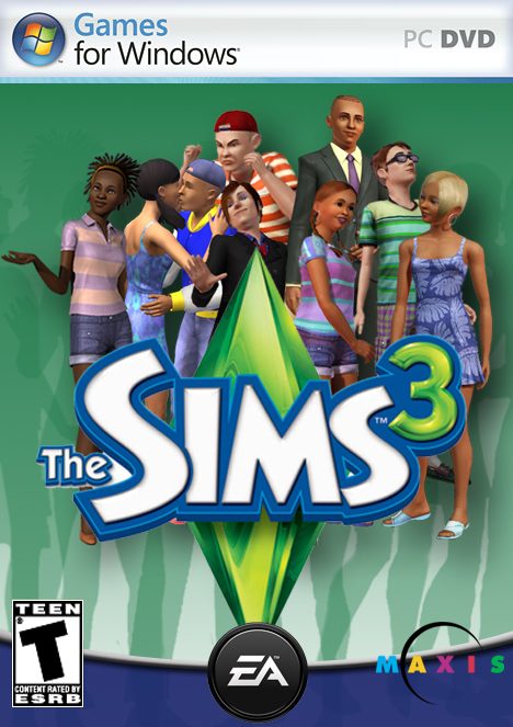 Sims 3 game cover by ste101 by swatme101 on deviantart for Online games similar to sims