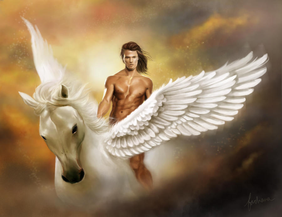 The Fabled Unicore further ments moreover Jesse Tree 1 Alpha And Omega besides Bellerophon and pegasus together with Look Great At Any Age. on greek god of time