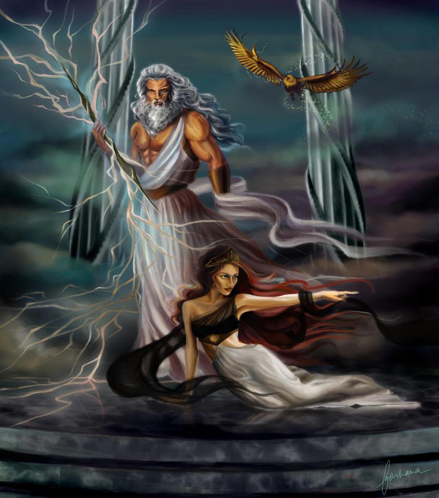 Zeus and Hera by dewma... Zeus Digital Painting