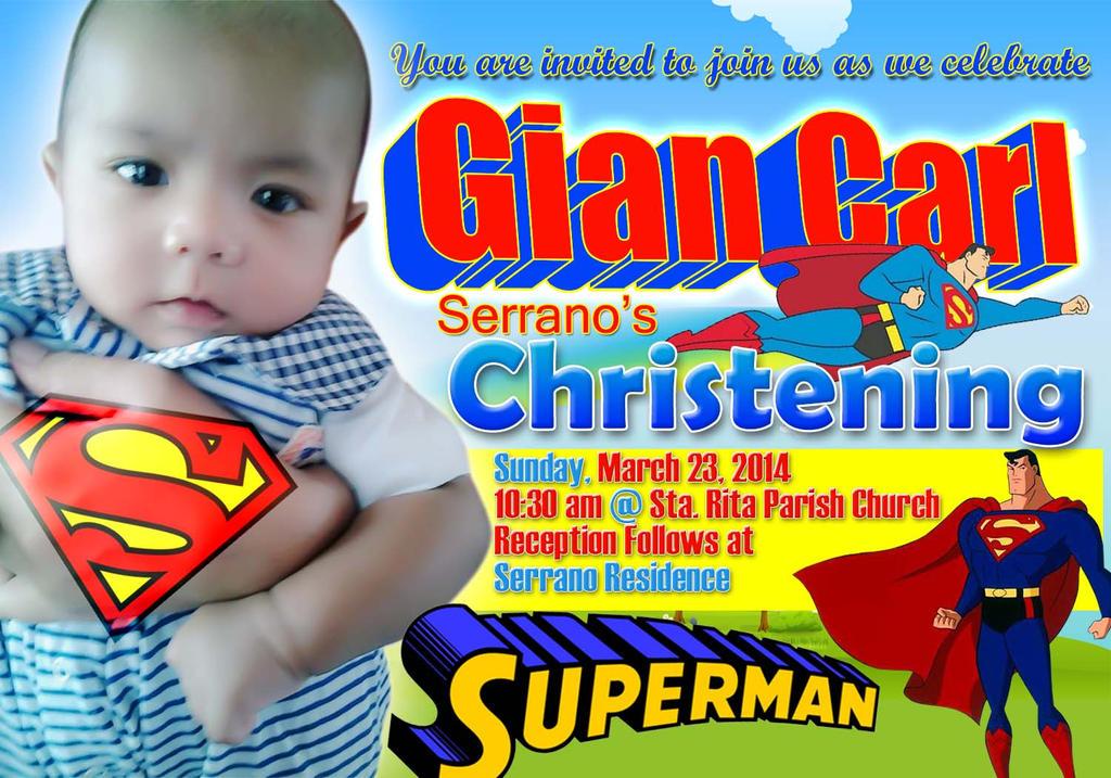 Invitation christening superman by megajhay100 on DeviantArt
