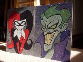 Harley Quinn and Joker by Glitterside