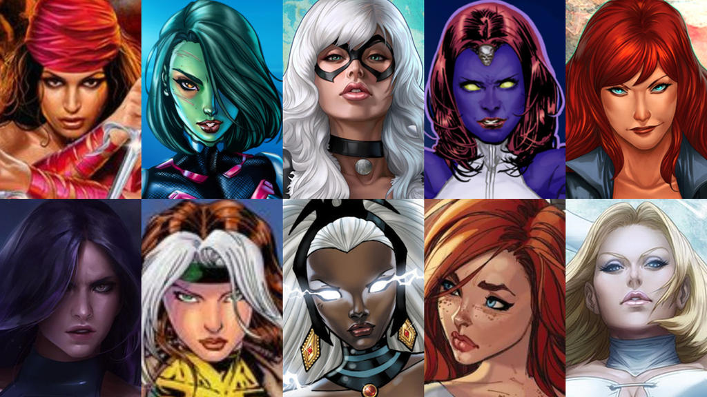 Top 10 Sexiest Marvel Female Comic Book Characters by