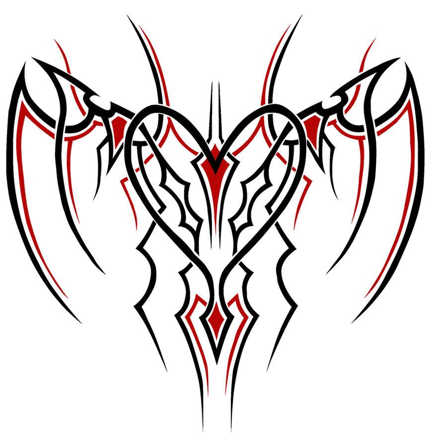 Drawings Of Tribal Hearts Tribal Heart by Ghazak...